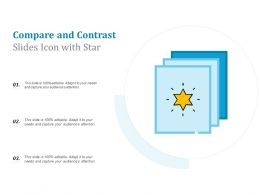Compare And Contrast Slides Icon With Star