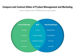 Compare And Contrast Slides Of Product Management And Marketing