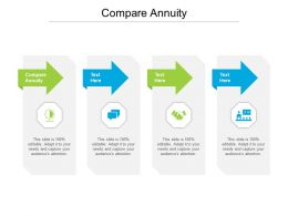 Compare Annuity Ppt Powerpoint Presentation Pictures Influencers Cpb