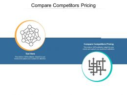 Compare Competitors Pricing Ppt Powerpoint Presentation Icon Sample Cpb