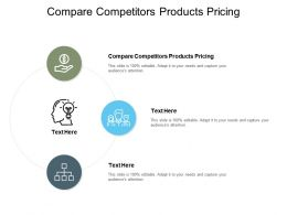 Compare Competitors Products Pricing Ppt Powerpoint Presentation Ideas Graphics Cpb