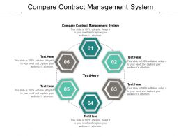 Compare Contract Management System Ppt Powerpoint Presentation Gallery Cpb