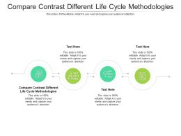 Compare Contrast Different Life Cycle Methodologies Ppt Powerpoint Presentation Shapes Cpb
