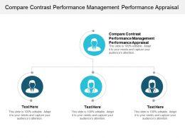 Compare Contrast Performance Management Performance Appraisal Ppt Presentation Slides Cpb