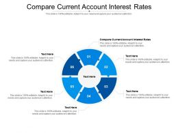 Compare Current Account Interest Rates Ppt Powerpoint Presentation Outline Example Cpb