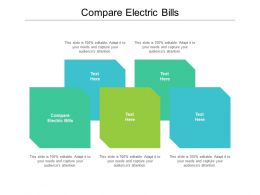 Compare Electric Bills Ppt Powerpoint Presentation Layouts Gridlines Cpb