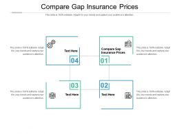 Compare Gap Insurance Prices Ppt Powerpoint Presentation Outline Portrait Cpb