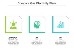 Compare Gas Electricity Plans Ppt Powerpoint Presentation Icon Background Image Cpb