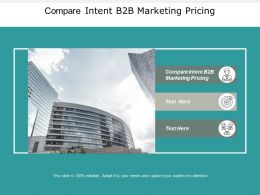 Compare Intent B2B Marketing Pricing Ppt Powerpoint Presentation File Grid Cpb