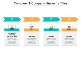 Compare It Company Hierarchy Titles Ppt Powerpoint Presentation Pictures Deck Cpb