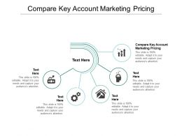 Compare Key Account Marketing Pricing Ppt Powerpoint Presentation Infographic Template Templates Cpb