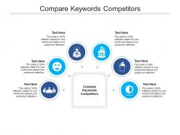 Compare Keywords Competitors Ppt Powerpoint Presentation Styles Icons Cpb