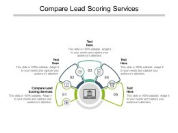 Compare Lead Scoring Services Ppt Powerpoint Presentation Gallery Backgrounds Cpb
