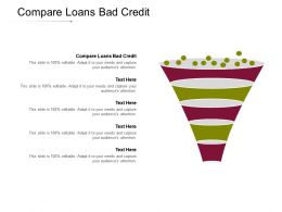 Compare Loans Bad Credit Ppt Powerpoint Presentation Inspiration Templates Cpb