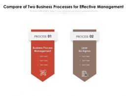 Compare Of Two Business Processes For Effective Management