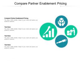 Compare Partner Enablement Pricing Ppt Powerpoint Presentation Infographics Slides Cpb