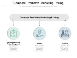 Compare Predictive Marketing Pricing Ppt Powerpoint Presentation File Icons Cpb