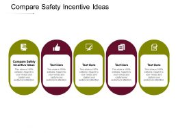 Compare Safety Incentive Ideas Ppt Powerpoint Presentation Pictures Show Cpb