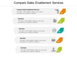 Compare Sales Enablement Services Ppt Powerpoint Presentation Icon Guide Cpb