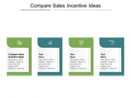 Compare Sales Incentive Ideas Ppt Powerpoint Presentation Infographics Guidelines Cpb