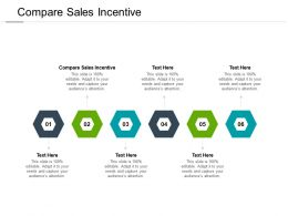 Compare Sales Incentive Ppt Powerpoint Presentation Show Shapes Cpb