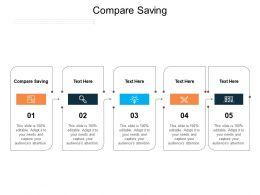 Compare Saving Ppt Powerpoint Presentation File Portfolio Cpb