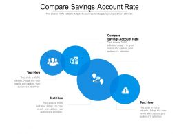 Compare Savings Account Rate Ppt Powerpoint Presentation Ideas Smartart Cpb