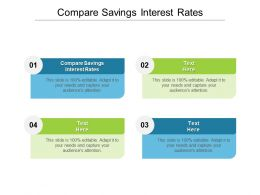 Compare Savings Interest Rates Ppt Powerpoint Presentation Pictures Summary Cpb