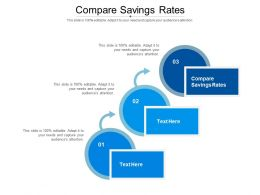 Compare Savings Rates Ppt Powerpoint Presentation Portfolio Graphics Tutorials Cpb