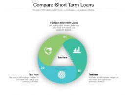 Compare Short Term Loans Ppt Powerpoint Presentation Slides Graphics Download Cpb