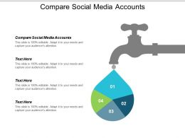 Compare Social Media Accounts Ppt Powerpoint Presentation Ideas Styles Cpb