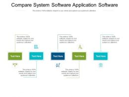Compare System Software Application Software Ppt Powerpoint Outline Format Cpb