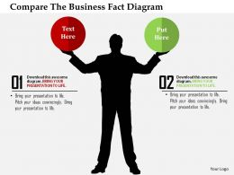 Compare The Business Fact Diagram Flat Powerpoint Design