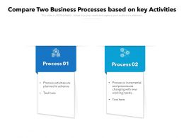 Compare Two Business Processes Based On Key Activities