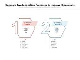 Compare Two Innovation Processes To Improve Operations