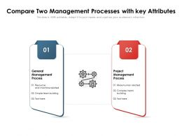 Compare Two Management Processes With Key Attributes