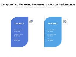 Compare Two Marketing Processes To Measure Performance
