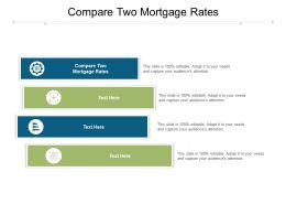 Compare Two Mortgage Rates Ppt Powerpoint Presentation Sample Cpb