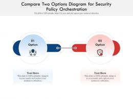 Compare Two Options Diagram For Security Policy Orchestration Infographic Template
