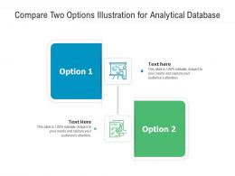 Compare Two Options Illustration For Analytical Database Infographic Template
