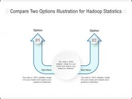Compare Two Options Illustration For Hadoop Statistics Infographic Template