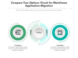 Compare Two Options Visual For Mainframe Application Migration Infographic Template