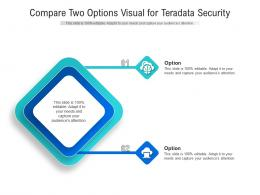 Compare Two Options Visual For Teradata Security Infographic Template