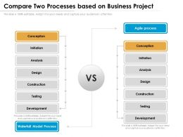Compare Two Processes Based On Business Project