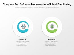 Compare Two Software Processes For Efficient Functioning