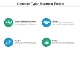 Compare Types Business Entities Ppt Powerpoint Presentation Outline Portfolio Cpb