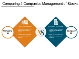 Comparing 2 Companies Management Of Stocks Ppt Inspiration