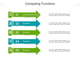Comparing Functions Ppt Powerpoint Presentation Gallery Show Cpb