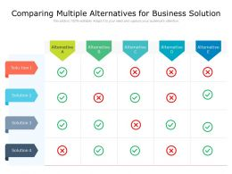 Comparing Multiple Alternatives For Business Solution