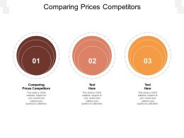 Comparing Prices Competitors Ppt Powerpoint Presentation Gallery Introduction Cpb